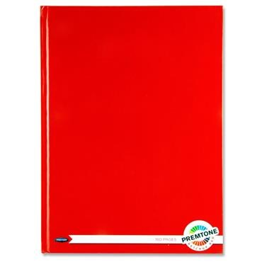 Hardback A4 160 Pages Ketchup Red