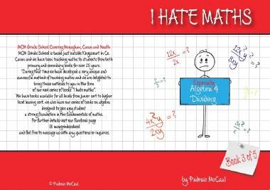 I Hate Maths Algebra Book 3 - Algebra & Dividing