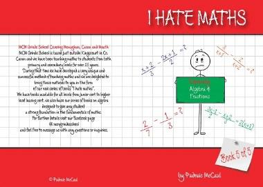 I Hate Maths Algebra Book 5 - Algebra & Fractions