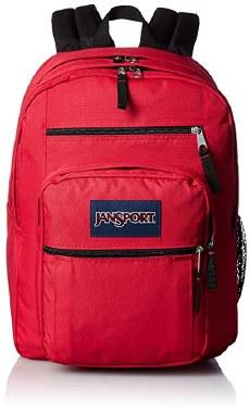 Jansport Big Student School Bag Red Tape 34 Litres