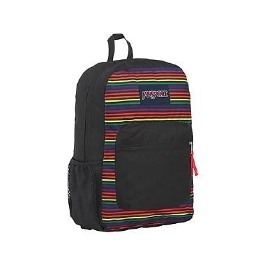 Jansport School Bag Cross Town Rainbow Stripes 25 Litres