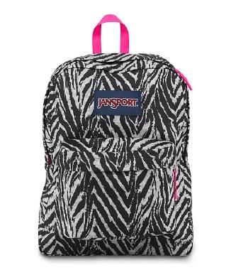 Jansport Superbreak School Bag Grey Wild Heart 25 Litre