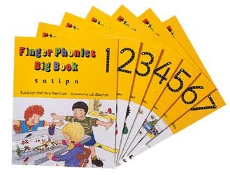 Jolly Phonics Finger Phonics Big Books Set of 1 to 7 Now On Sale Was €96.50 Now Only €64.25