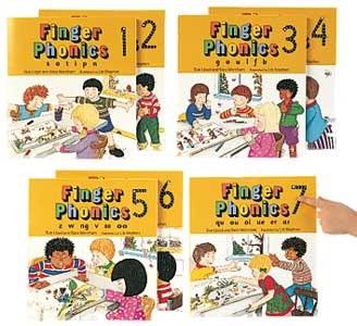 Jolly Phonics Finger Phonics Small Books Set of 1 to 7