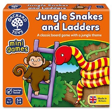 Jungle Snakes & Ladders Mini Game Orchard Toys