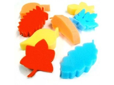 Foam Sponges Leaf Shapes Set of 8