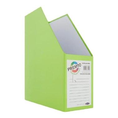Magazine Organizer Cardboard Caterpillar Green