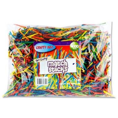 Crafty Bitz Matchsticks 4000 Coloured