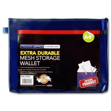Document Mesh Wallet Extra Durable Admiral Blue A4+