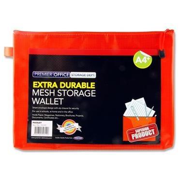 Document Mesh Wallet Extra Durable Pumpkin A4+