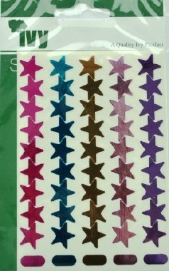 IVY Shiny Metallic Pastel Stars