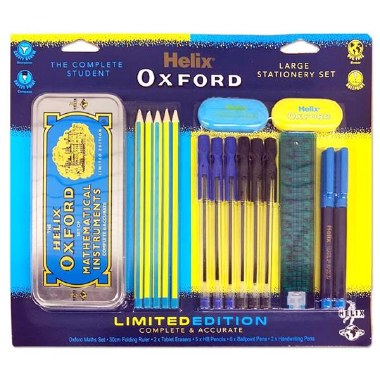 Helix Oxford Complete Student Stationery Set Blue