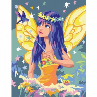 Paint By Numbers Medium Golden Fairy