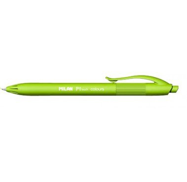 Milan P1 Soft Touch Retractable Ballpen Lime Green