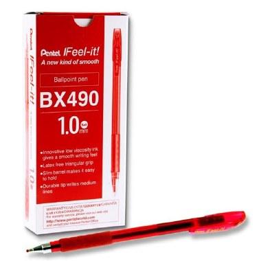 Pen Pentel Feel It 1.0mm Red