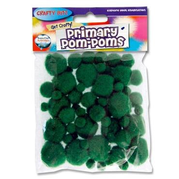 Crafty Bitz Primary Pom Poms Green