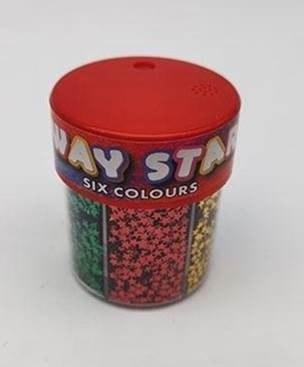 Glitter Shaker 6 Way Stars Perfect Stationery