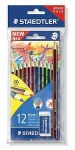 Colouring Pencils 12 Noris Bonus Pack Staedtler