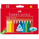 Junior Grip Triangular Crayons Box of 12 Faber Castell