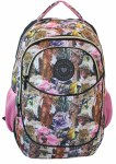 Freelander School Bag Oval Roman Pink Flower 28 Litres