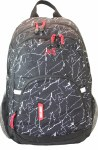 Freelander School Bag Multi Compartment Backpack Black & White Print 30 Litres