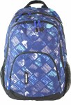 Freelander School Bag Multi Compartment Backpack Blue Squares 30 Litres