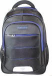 Portland School Bag Computer Backpack Black/Blue 30 Litres