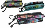 Freelander Multi Zip Pencil Case Girls Assorted