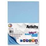 A4 Card Baby Blue 50 Sheets 160g