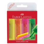 Highlighter Wallet 4 Pack Fluorescent Faber Castell
