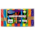 Lollipop Sticks 200 Coloured