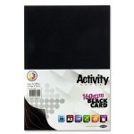 A2 Card Black 20 Sheets Premier