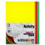 A2 Card Bright assorted Colours 25 Sheets