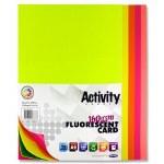 A2 Card Flourescent Pack 20