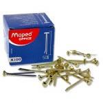 Brass Fasteners 100 50mm Maped