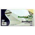 Envelopes Brown Size 110mm x 220mm 50 Pack Peel & Seal