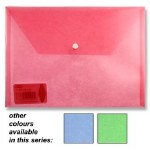 Document Wallet A4 Plastic Folder in a choice of 3 Colours