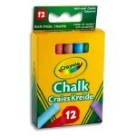 Chalk Coloured 12 Stick Crayola