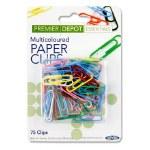 Paper Clips Coloured 75 pack Premier