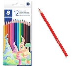 Colouring Pencils 12 Pack Wood- Free Staedtler