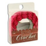 Crochet Lace Red 2m Self Adhesive Icon