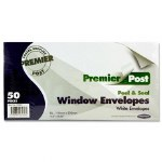 Envelopes White with Window Size DL 50 pack Peel & Seal