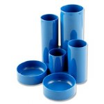 Desk Tidy Blue Heavy Plastic