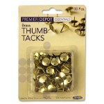 Drawing Pins Solid Head 100 Pack Premier