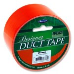 Designer Duct Tape 48mm x 9m Orange Icon