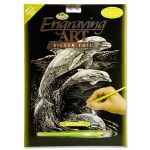 Engraving Art Silver Foil Dolphins