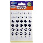 Crafty Bitz 210 Black & White Self Adhesive Eyes