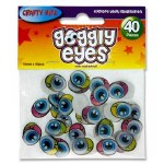 Crafty Bitz 40 Coloured Goggly Eyes