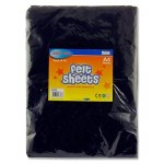 Felt 10 Sheets Black A4 Crafty Bitz