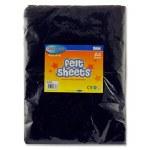 Felt 10 Sheets Black A4 Crafty Bitz